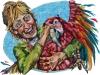 Ellen and her Pet Parrot
